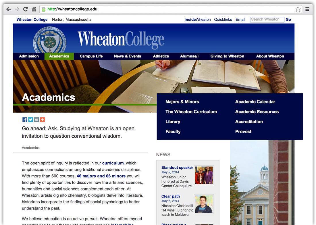 Wheaton College WordPress Website Support