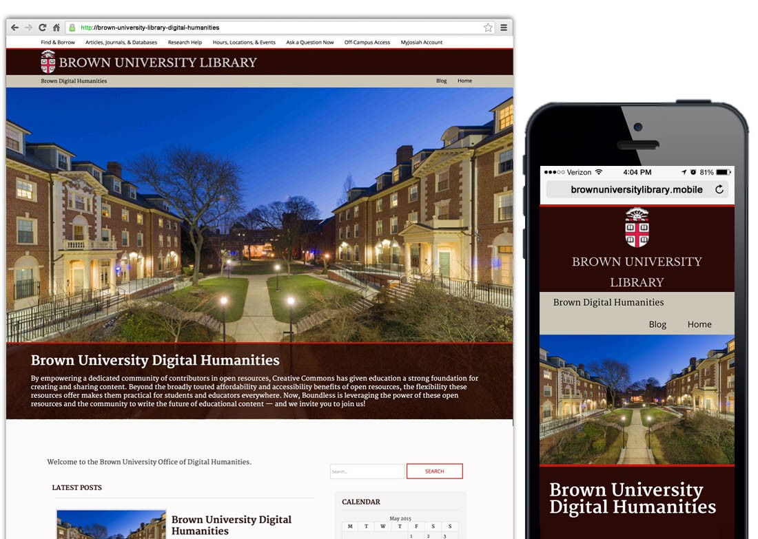 Brown University Library Higher Education WordPress Web