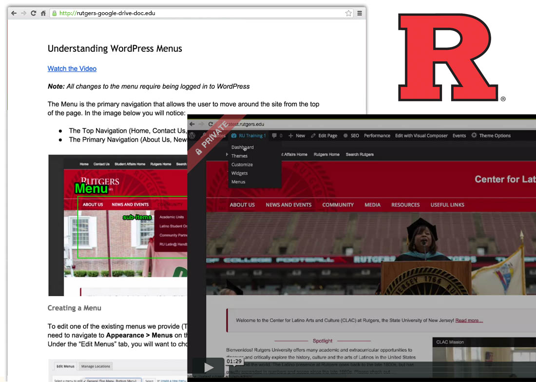 Rutgers University WordPress Training