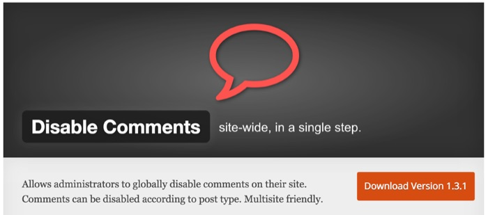 WordPress Disable Comments