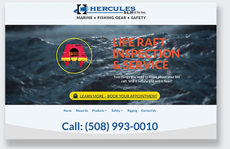 Hercules Marine Supply comparison old site new site
